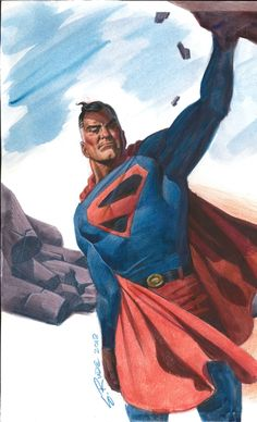 Superman (Kingdom Come) by Steve Rude, in Mike Pf's DC Characters (Drawings and Commissions) Comic Art Gallery Room Dc Comics Superheroes, Dc Comics Characters, Dc Comics Art, Marvel Comics, Marvel Dc, Superman Art, Superman Family, Superman Stuff, Batman