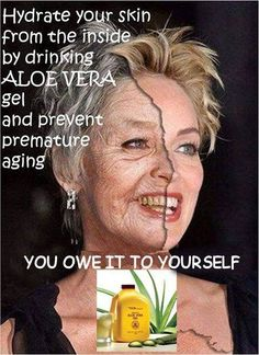 Aloe Vera gel, hydrate the skin from inside and prevent premature aging, make you feel more gorgeous and wrinkle free. Aloe Vera Juice Drink, Forever Living Business, Loose Belly, Healthy Style, Juicing For Health, Forever Living Products, Aging Process, Aloe Vera Gel, Skin Cream