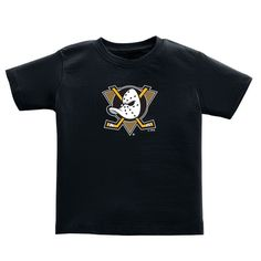 Anaheim Ducks Soft as a Grape Toddler Primary Logo T-Shirt - Black