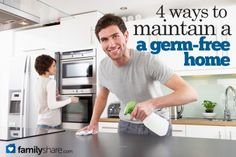 4 ways to maintain a germ-free home
