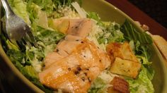 Amazing Caught Salmon Caesar Salad