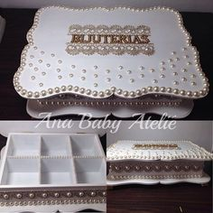 Porta bijuterias para uma cliente muito querida. Silvia  #anababydecor #anababyatelie #amomuitotudoisso #artesanato #feitoamao #amoperolas #bijuterias #portabijuterias #personalizacao