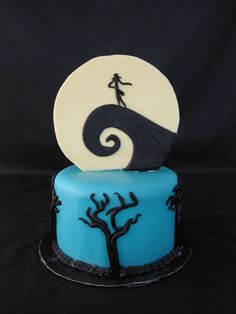 Nightmare Before Christmas Birthday Cake by The Twisted Sifter