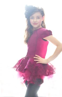 Fátima Ptacek modelling for Bonnie Young at the Petite Parade catwalk show for winter 2013 kids fashion