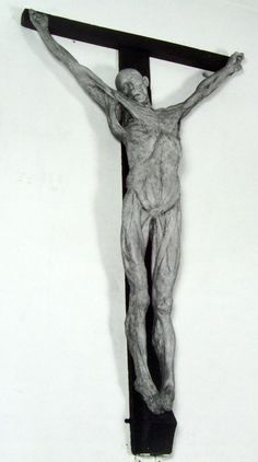 Thomas Banks, Anatomical Crucifixion (James Legg), 1801, plaster cast on wooden cross.