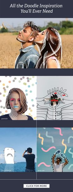 Doodling is the most zen form of creativity, and PicsArt will inspire you to create awesome doodles on your phone anywhere, anytime. Photography Editing, Creative Photography, Art Photography, Photo Editing, Foto Doodle, Doodle On Photo, Doodle Doodle, Doodle Inspiration, Graphic Design Inspiration