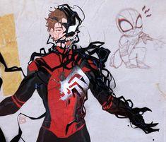 Spiderman Movie, Amazing Spiderman, Spiderman Anime, Marvel Drawings, Cartoon Drawings, Symbiotes Marvel, Superhero Cartoon, Marvel Fan Art, Ms Marvel