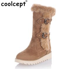 Size 31-43 Gladiator Snow Boots Women Flats Half Short Boot Ladies Warm Plush Winter Mid Calf Boots Footwear Shoes Woman  #Affiliate