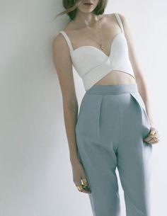 Crop Top + High Waist Trousers