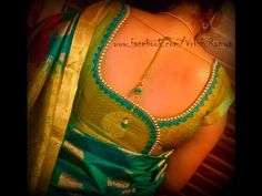 South Indian Cross Cut Silk Saree Blouse Cutting and Stitching - YouTube