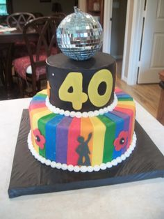 disco 1970's party decorations | ... http://cakecentral.com/g/i/1836651/disco-70s-themed-party/u/407853