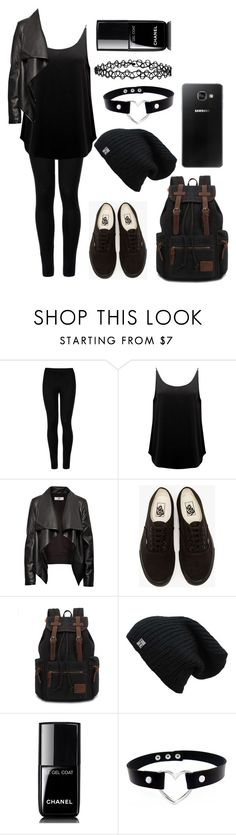 """""""Here's the """"Bad"""""""" by chloe-beth-13 ❤ liked on Polyvore featuring Wolford, BA&SH, HIDE, Vans, Samsung, Chanel and Accessorize"""