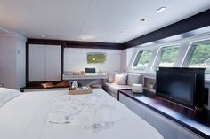 Master Cabin onboard Sailing Nour | Durukos Yachting - Luxury Gulet and Motor Yacht Specialist in Turkey, Greece and Croatia