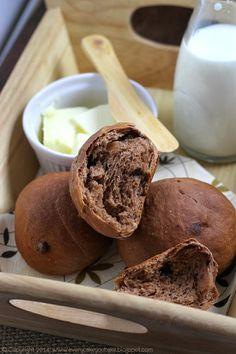 mleczne bułeczki czekoladowe