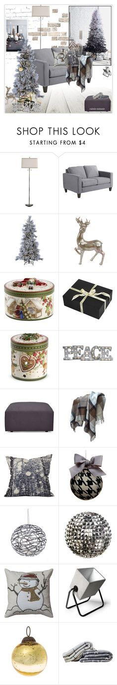 """""""Have yourself a modern little Christmas"""" by rainie-minnie ❤ liked on Polyvore featuring interior, interiors, interior design, home, home decor, interior decorating, Arteriors, Pier 1 Imports, Sterling and Villeroy & Boch"""