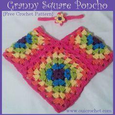 Transcendent Crochet a Solid Granny Square Ideas. Inconceivable Crochet a Solid Granny Square Ideas. Crochet Square Pattern, Crochet Baby Cocoon Pattern, Crochet Baby Poncho, Crochet Pillow Pattern, Crochet Poncho Patterns, Crochet Baby Clothes, Crochet Squares, Crochet Granny, Crochet For Kids