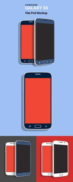 Samsung Galaxy S6 Flat PSD Mockup   Freebies PSD