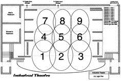 floor plan scene design   Ground Plan  Miss Julie  Vassar College  Poughkeepsie  NY  December