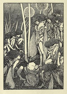 Laurence Housman, illustration for Jane Barlow's The End of Elfintown (1894)