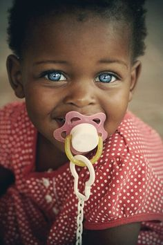 Sooo black babies with blue eyes is a thing?