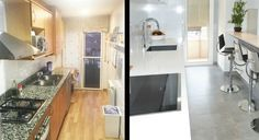 Antes y después de una cocina abierta al salón Cabinet, Storage, Furniture, Home Decor, Before After Kitchen, Decorating Kitchen, Open Kitchens, Small Kitchens, Curio Cabinets