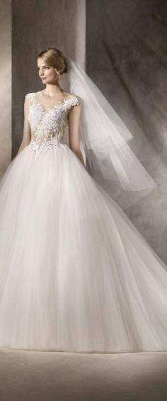 929b372e02a6 La Sposa 2017 - Hong Kong - A fairytale princess wedding dress with  seductive sheer bodice adorned with romantic lace details.