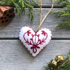 """scandinavian felt ornaments"""