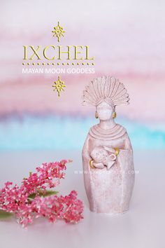 Ixchel - Mayan Aztec Fertility Moon Goddess Statue Doula Midwife Gift Figurine Goddess Sculpture Pagan Buddhist Altar Birth Art Womb blessing The Mayan Goddess Ixchel is an ancient healing and fertility goddess who was responsible for sending rain to nourish the Earths crops. Linguistically, the name Ixchel relates to two important aspects of ancient Aztec society: Ix, meaning woman, and Chel meaning rainbow or light. Ixchel was known as the goddess of making children as well as the goddess…