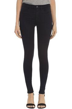 J Brand, 23110 Luxe Sateen Maria, black, Black Skinnies, Black Jeans, Superenge Jeans, Dress Trousers, Pants, Maria Black, J Brand Jeans, Women's Leggings, Jeggings