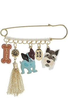Doggy Charm Safety Pin Brooch * You can get additional details at the image link. (This is an affiliate link) #JewelryForSale