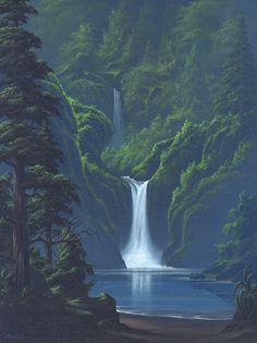 """Two Falls"" #SurfArt by Scott Munzig"