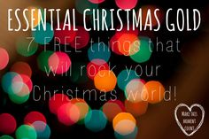 7 FREE things that will rock your Christmas world!