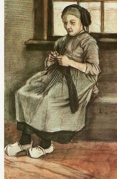 breiende vrouw ~ Vincent van Gogh, 1881