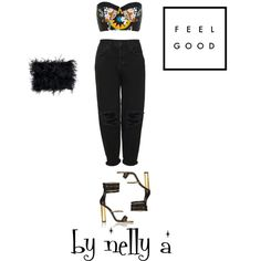 Look 208 by ada-nelli on Polyvore featuring мода, Boutique, River Island, Balmain and Donna Karan
