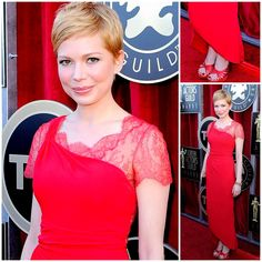 michelle williams in red dress on red carpet - Google Search