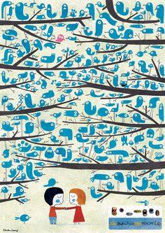 1000 birds.