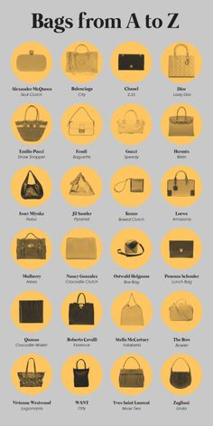 Bolsos de diseño alfabeto