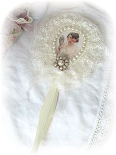 Shabby Victorian Lacy Pearl Creamy White HAND by RoseChicFriends, $19.99