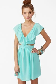 Lost Without You Dress - Mint in Clothes Dresses