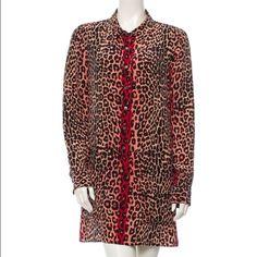 Equipment pink leopard/cheetah dress Lovely pinkish leopard/cheetah long sleeve dress. Purchased from a fellow purchaser. Worn a few times but in great condition! Equipment Dresses Long Sleeve