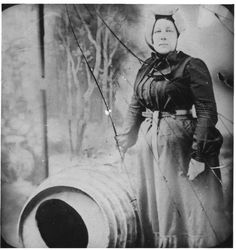 Annie Edson Taylor ride over Niagara Falls in a barrel at the age of 63.