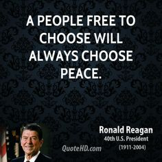 free pictures and quotes for june | people free to choose will always choose peace.
