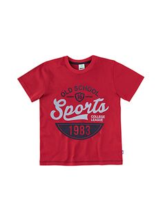 Camiseta Infantil Masculina Com Estampa Flocada
