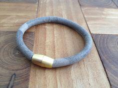Armband Leder camouflage gold von moanda auf DaWanda.com