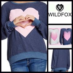 "WILDFOX Pink Heart Sweatshirt Oversized Boyfriend WILDFOX Big Pink Heart Sweater Sweatshirt    New With Tag    * Super soft & cozy, subtly purposely distressed fabric.   * It measures about 25.5"" long.   * Scoop neck & long sleeves.  * Graphic print w/a pink heart.   * A relaxed fit.    Fabric: 47% Cotton, 47% Poly, & 6% Spandex Color: Midnight Blue & Pink  Item:   No Trades No PayPal ✅ Authentic/Genuine ✅ ✅ Bundle Discounts   ✅ ✅ Offers Considered*✅  *Please use the blue 'offer' button to…"