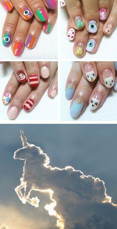..........interesting nails and a unicorn cloud