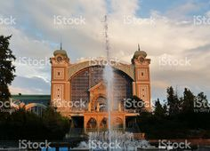 Krizik fountain, Prague foto stock royalty-free