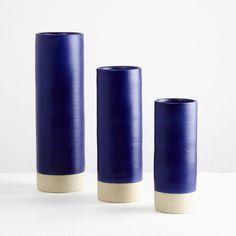 Les Guimards Ultramarine Large Cylinder Vase - Trouva