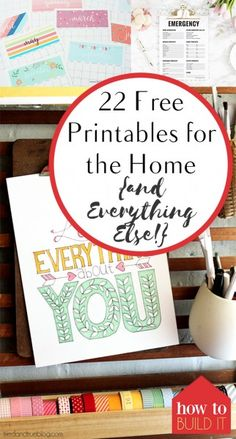 22 Free Printables for the Home {and Everything Else!}
