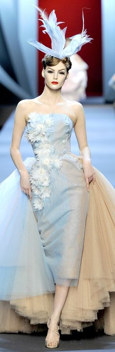 Christian Dior 2011 ~ That year, the Dior line was so lovely. The multi tonal layers...